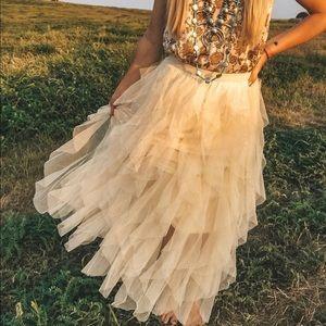 🔹New🔹Tiered Midi Boho Skirt